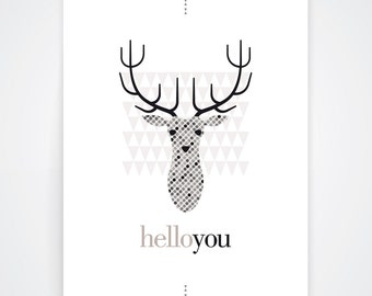 Poster {helloyou} - 30 x 40 cm