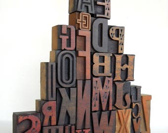 A to Z - Vintage Letterpress Wood Type Collection -VG04