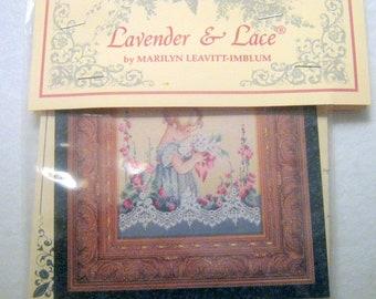 Lavender & Lace Cross Stitch Pattern, Emma's Garden, Chart,