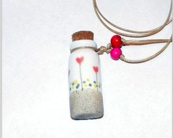 Porcelain Vial Pendant Necklace
