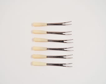 Cocktail Picks or Forks - Set of 6 - Appetizers not Included