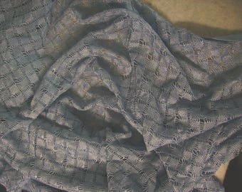 No. 153 fabric mesh knit blue glossy