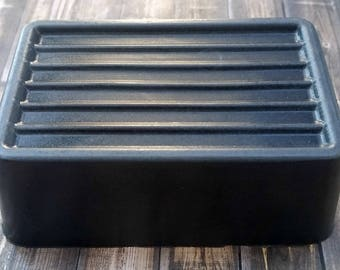 Activated Charcoal Soap - Three Pack - Soap - Handmade Soap - Three 6.5 oz. Bars - Free Shipping - Shea Butter Soap - Charcoal Soap - Black