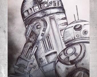 C3P1 Star Wars-fine art print limited edition