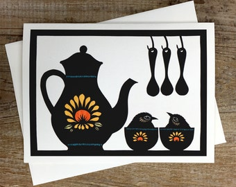 Tea For Two - Greeting Card