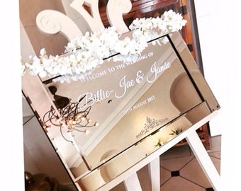 Mirror Wedding Welcome Sign • DIY Easy with Vinyl Lettering/Vinyl Stickers • Perfect for Glass & Acrylics too • Draft and Video instructions