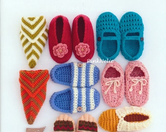 Room Shoes Crochet n Knit - Japanese Craft Book