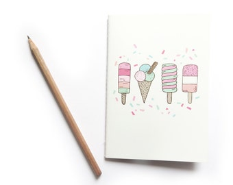 SALE Ice Cream Party A6 Notebook - 50% off