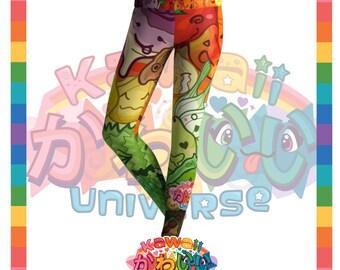 Kawaii Universe - Cute Fruits and Veggies Designer Tights / Leggings