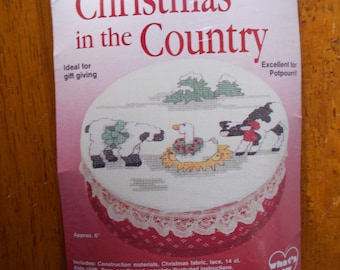 Christmas in the Country Cross Stitch Kit New in Package