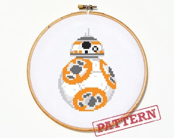 BB-8 Star Wars Cross Stitch Pattern