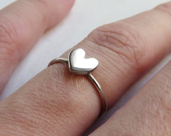 Heart Ring, Sterling silver, Made to order, Custom Ring , Stacking ring