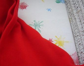 Gender Neutral Soft Fleece Baby Moses/Pram Blanket Tomato Red
