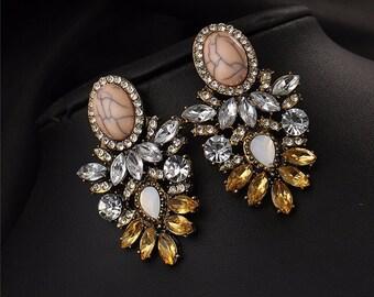 Brighten Star collection Vintage design stud earring fashion women statement stud Earrings for women fashion earring
