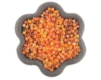 20grs seed beads transparent orange 2mm (50)