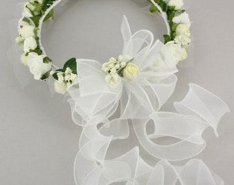 Ivory bridesmaid flower Crown