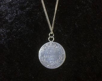 1886 One Shilling Coin Necklace
