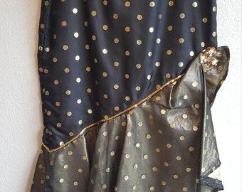 Black & Gold Ruffled Skirt