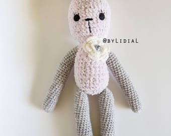 Crochet Bunny Rabbit Stuffed Animal Toy Easter Baby Shower Gift