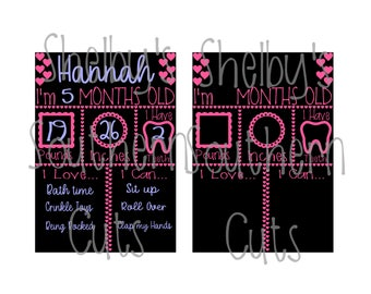 Baby Monthly Milestone Board