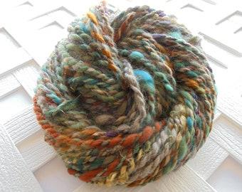 LOTHLORIEN Handspun Art Yarn, Super Bulky Handspun Yarn, 2-Ply Handspun Yarn, Alpaca Yarn, Bamboo, Kid Mohair Locks, Knitting Yarn, Weaving