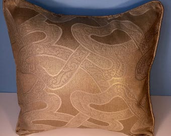 """18x18"""" Decorative Corded Pillow Cover - Gold"""