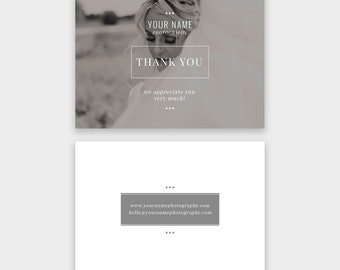 Photography Thank You Card Template: Lively - Photoshop Template