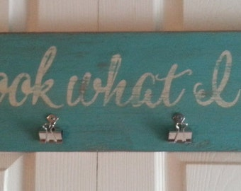 Distressed and vintage look Look what I did child art display sign, We can also personalize to your childs name!/kids artwork display