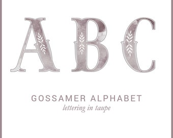 Gossamer Alphabet taupe