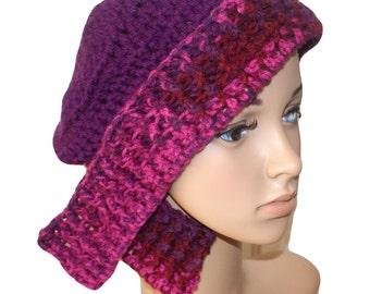 Vintage Style Hat, Burgandy Hat, Womens Snow Hat, Purple Winter Hat, Purple Cloche Hat, Flapper Hat, Cloche Hats Women, Winter Hat Women,