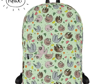 Sloth Backpack Cute Sloth Backpack Sloth Rucksack Sloth Bag Sloths Backpack Sloth Gift Sloth School Bag Sloth Work Bag Sloth Design Sloths