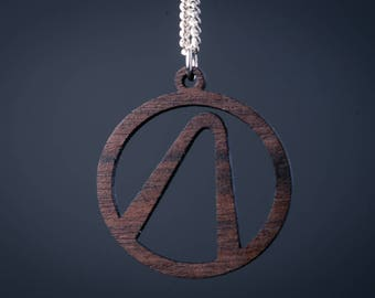Borderlands Vault Logo Pendant - Wood