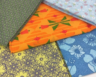 New QC FQ Bundle. Five (5) colorful floral quilting cotton fat quarters.