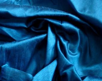 Royal Blue Art Silk Fabric By The Yard Silk Curtain Fabric Apparel Fabric Silk Dupioni Fabric Indian Silk Fabric By The Yard