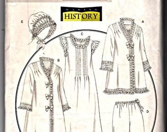 Butterick Making History Sewing Pattern B5061 Victorian Nightgown Robe Jacket Pantaloons Bonnet Rachel Wallis Size XS S M Costume Cosplay