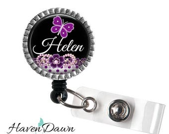 Butterfly ID Badge Reel