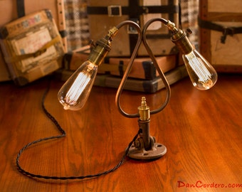 Duel Edison Bulb Table Lamp