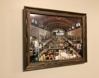 Photo of the Westside Market in Cleveland Ohio in a Rustic Wooden Frame