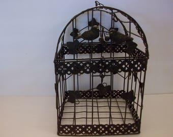 Metal Decorative Bird Cage, Bird Cage Planter, Bird Cage