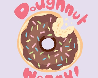 Donut Worry! - Cute Pastel Postcard Print