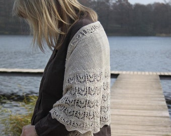 Thistles- a PDF knitting Shawl pattern