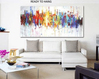 "original abstract 72"" painting  colorful  painting by Jolina Anthony"