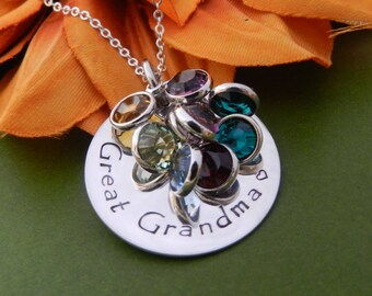 Great Grandmother Gifts, Personalized Jewelry for Grandma, Birthstone necklace for Grandma, Nana necklace, Gift from Grandkids, Nana Gift