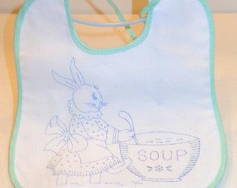 Bunny Rabbit Bib-Vintage old new stock