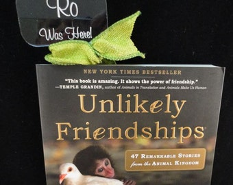 "Bookmark with Book-""Unlikely Friendships,"" Custom Acrylic - Personalized/Monogrammed - Engraved/UV Printed"
