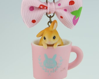 Sweet Bunny Cup candy Gashapon Japan necklace
