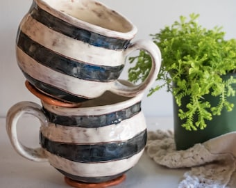 Striped Mugs