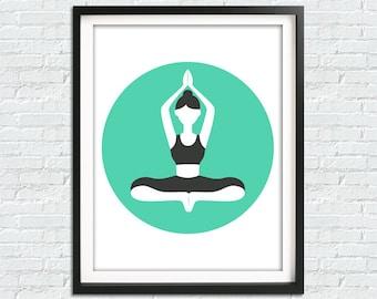 Meditation Room, Yoga Print, Yoga Poster, Yoga Wall Art, Namaste Print, Meditation Art, Yoga Gft, Yoga Wall Decor, Meditation Print