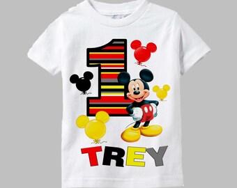 Mickey Mouse Birthday Shirt - Mickey Mouse Shirt - Mickey Shirt