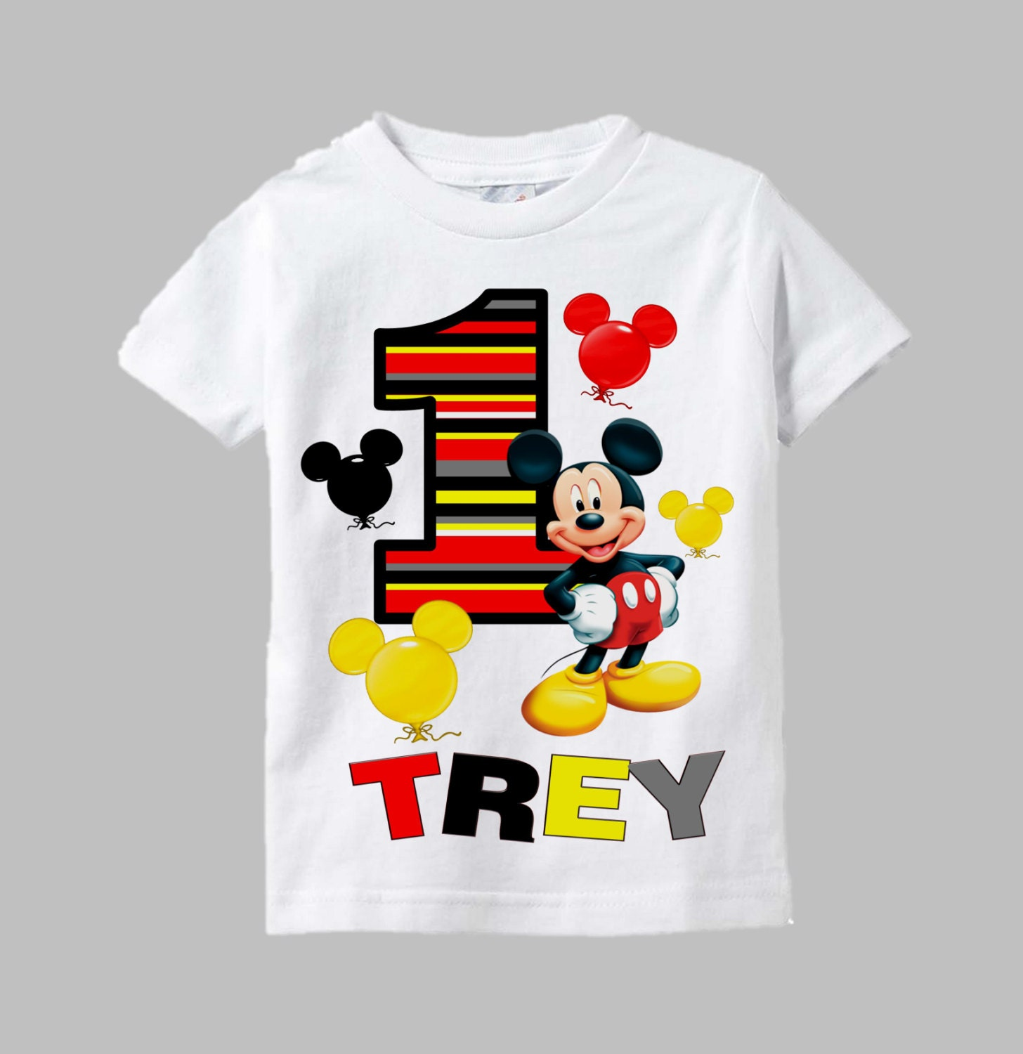 Mickey Mouse Personalized Birthday T Shirts